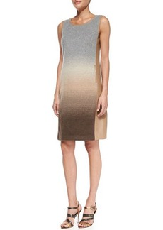 Lafayette 148 New York Caroline Wool-Blend Dress with Faux-Leather Trim