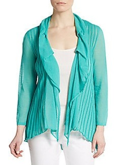 Lafayette 148 New York Cascade Open-Front Cardigan