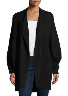 Lafayette 148 New York Cashmere-Blend Open-Front Dolman-Sleeve Sweater