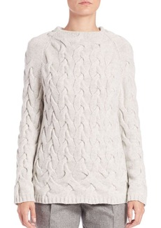 Lafayette 148 New York Cashmere Braided Cable Sweater