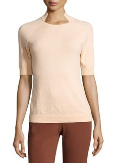 Lafayette 148 New York Cashmere Half-Sleeve Pullover Sweater