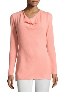 Lafayette 148 New York Cashmere Long-Sleeve Cowl-Neck Sweater