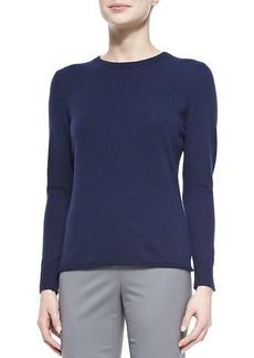 Lafayette 148 New York Cashmere Long-Sleeve Sweater