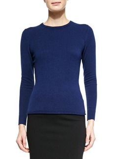 Lafayette 148 New York Cashmere Long-Sleeve Sweater, Delft