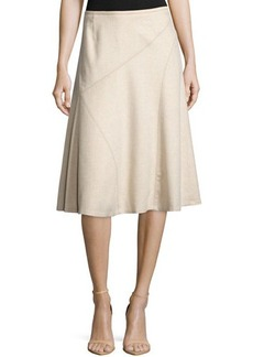Lafayette 148 New York Cashmere Nara Flared Knee-Length Skirt