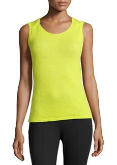 Lafayette 148 New York Cashmere Scoop-Neck Shell, Starfruit