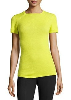 Lafayette 148 New York Cashmere Square-Neck Sweater, Starfruit