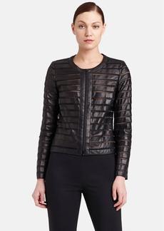 Lafayette 148 New York 'Catrice' Shadow Stripe Leather Jacket