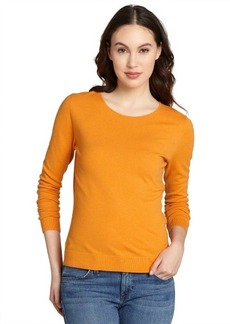 Lafayette 148 New York cayenne wool rounded neck sweater