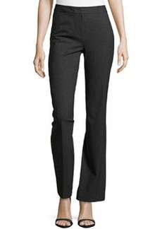 Lafayette 148 New York Center-Pleat Stretch Suiting Pants, Smoke