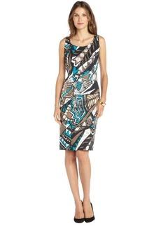 Lafayette 148 New York chai multi 'Kuna' cotton sleeveless dress