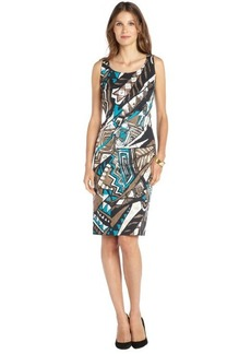 Lafayette 148 New York chai multi 'Kuna' cotton sleeveless dress
