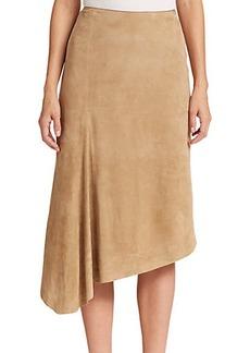 Lafayette 148 New York Chantee Asymmetrical Suede Skirt