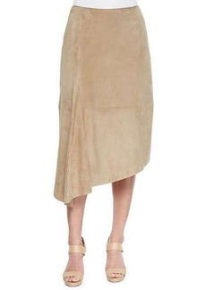 Lafayette 148 New York Chantee Suede Asymmetric Hem Skirt