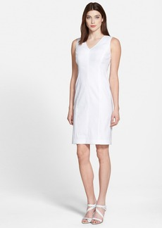 Lafayette 148 New York 'Charisma' V-Neck Sheath Dress