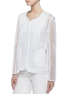 Lafayette 148 New York Charlane Perforated Topper Jacket