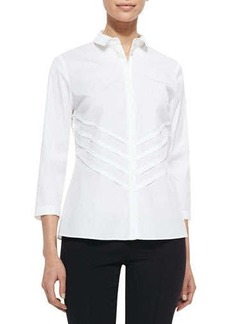 Lafayette 148 New York Charmaine 3/4-Sleeve Blouse
