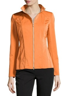 Lafayette 148 New York Chayanna Stand-Collar Zip-Front Jacket