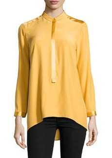 Lafayette 148 New York Chelsea Half-Placket High-Low Tunic, Sunflower