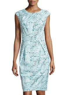 Lafayette 148 New York Cheryl Printed Pleated Dress, Splash Multi