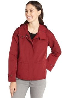 Lafayette 148 New York claret hooded cinch waist jacket