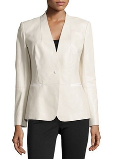 Lafayette 148 New York Clary Tissue Weight Leather Jacket
