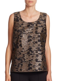 Lafayette 148 New York Cleo Fil Coupe Metallic Tank