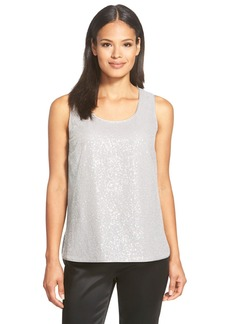 Lafayette 148 New York 'Cleo' Sequin Silk Georgette Blouse