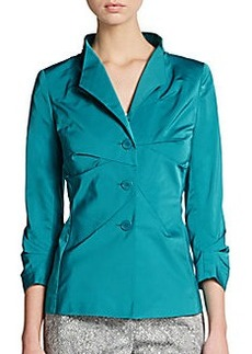 Lafayette 148 New York Collared Pleat-Front Jacket