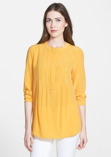 Lafayette 148 New York Collarless Silk Blouse