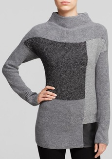Lafayette 148 New York Color Block Intarsia Sweater