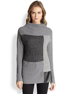 Lafayette 148 New York Colorblock Intarsia Sweater