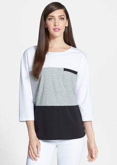 Lafayette 148 New York Colorblock Jersey Pocket Tee