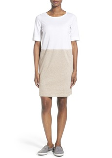 Lafayette 148 New York Colorblock Ponte Shift Dress