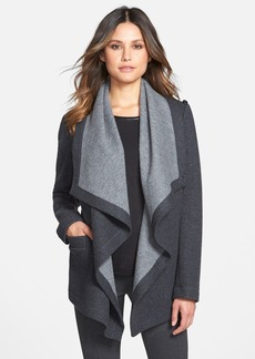 Lafayette 148 New York Colorblock Wool Blend Drape Front Jacket