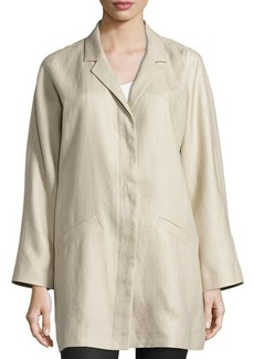 Lafayette 148 New York Concealed-Button Long Jacket