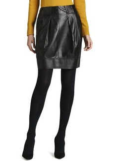 Lafayette 148 New York Contemporary Leather Skirt