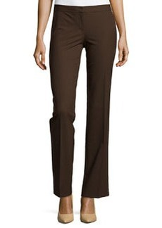 Lafayette 148 New York Contemporary Straight-Leg Pants, Espresso