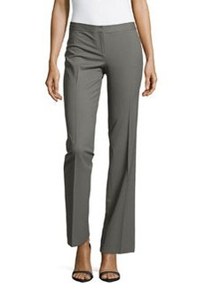 Lafayette 148 New York Contemporary Straight-Leg Suiting Pants, Shale