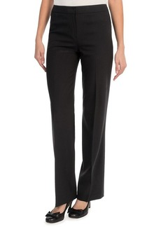 Lafayette 148 New York Contemporary Stretch Wool Classic Pants - Straight Leg (For Women)