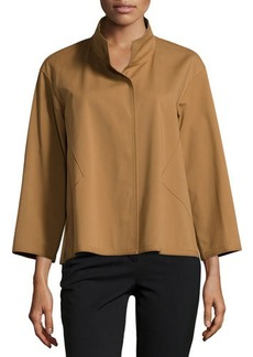 Lafayette 148 New York Contour-Seam 3/4-Sleeve Jacket