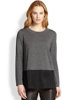 Lafayette 148 New York Contrast-Hem Sweater