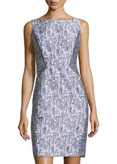Lafayette 148 New York Contrast-Panel Sleeveless Dress, Cinder Multi