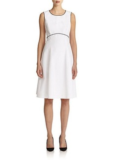 Lafayette 148 New York Contrast-Trim Dress