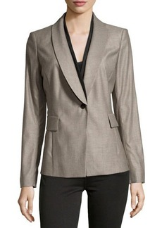 Lafayette 148 New York Contrast-Trim One-Button Jacket