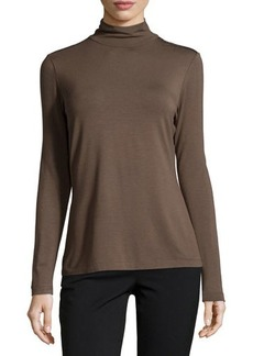 Lafayette 148 New York Contrast-Trim Turtleneck