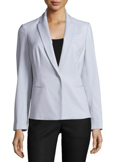 Lafayette 148 New York Coretta One-Button Fitted Jacket