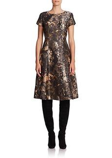Lafayette 148 New York Corey Abstract Print Satin Dress