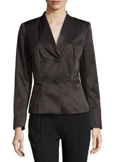 Lafayette 148 New York Corine Tech Fabric Jacket, Black