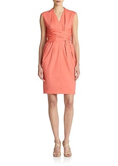 Lafayette 148 New York Corrine Wrap-Detail Dress